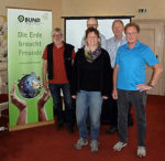 Teilnehmer von links: Michael Bünner (BUND OG Lörmecketal); Christan Schweer (Wassernetz NRW), Birgit Langner (BUND KG Soest), Karl-Heinz Berghoff (Initiative Trinkwasser e.V.), Alfons Knop (BUND OG Lörmecketal)